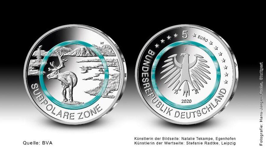 """5€-Sondermünze """"Subpolare Zone"""" 2020"""