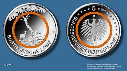 """5€-Sondermünze """"Subtropsiche Zone"""" 2018"""