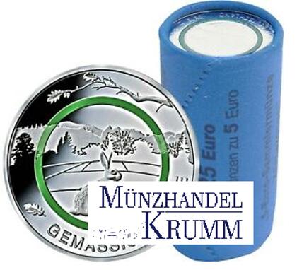 """Rolle 5€-Sondermünze """"Gemäßigte Zone"""" 2019"""